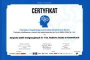 Certyfikat placówki respektującej potrzeby senonsoryczne dzieci